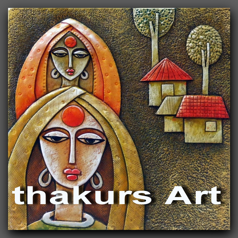 Thakur 39 s art indian women for Ceramic mural painting