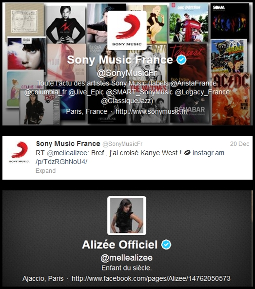 Sony Music France Twitter