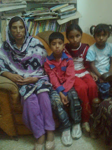 Pastor  Mehboob Yaqoob's wife with her Children at LEAD Office and requested for Legal Support