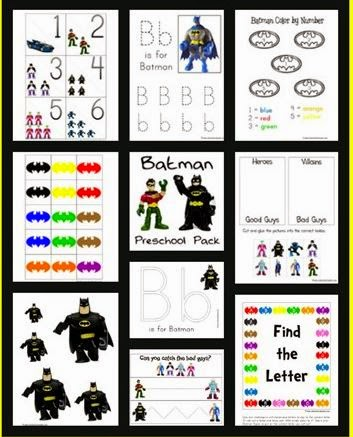 http://www.1plus1plus1equals1.net/2010/10/batman-preschool-pack/