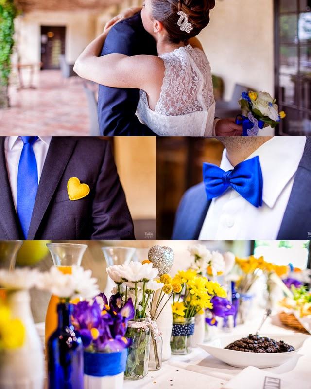 mariage jaune bleu et jaune