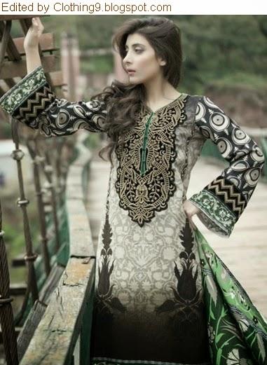 Mariab Premium Luxury Linen 2014-15
