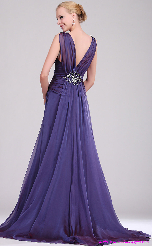 robes a la mode robe de soir e longue f. Black Bedroom Furniture Sets. Home Design Ideas