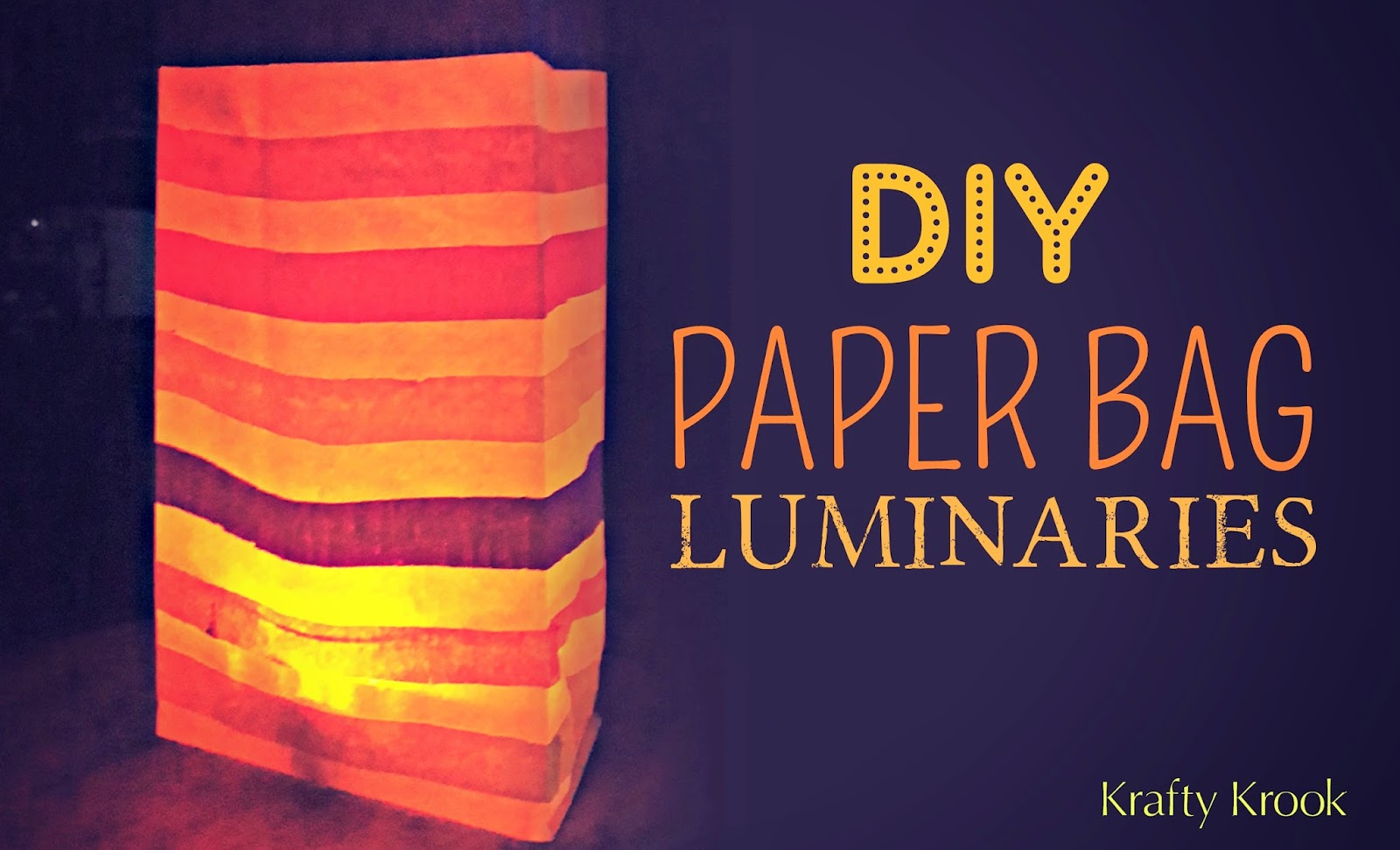 Diy Recycle Paper Bags To Create Colourful Luminaries
