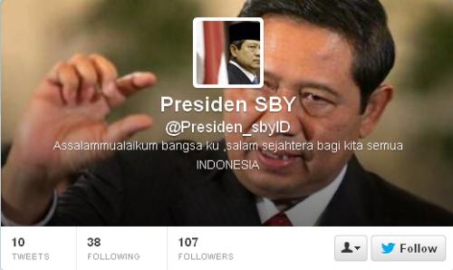 Twitter Presiden SBY Presiden_sbyID