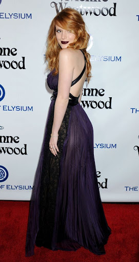 Bella Thorne in purple floor-length dress at The Art of Elysium HEAVEN Gala 2016 red carpet dresses