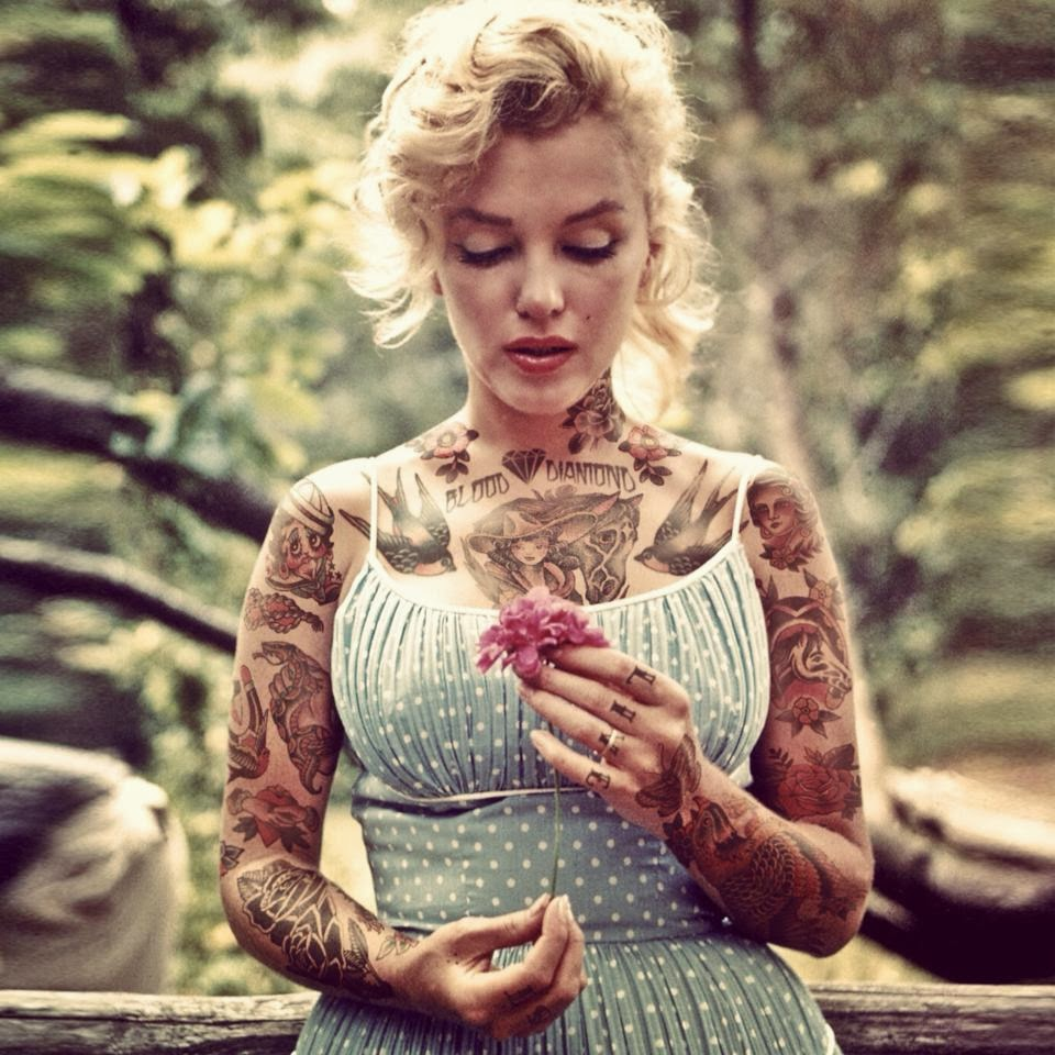 Marylin Monroe tatuata