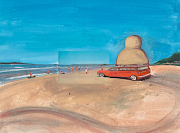 William Wegman, Sandy Beach, 2007 (wegman sandy beach )