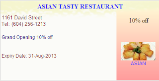 Asian Tasty Restaurant: 10% off Entire Order, Grand Opening Special