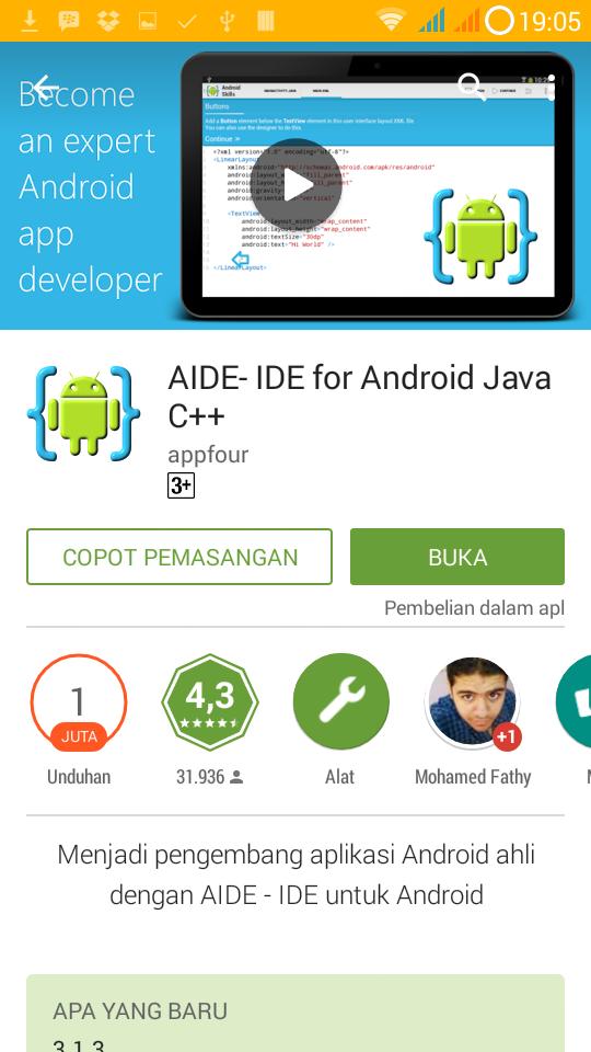 Mengenal AIDE Java Android IDE | Pemrograman Android