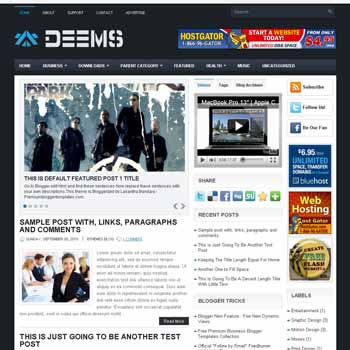 Deems blog template. template image slider blog. magazine blogger template style. wordpress theme to blogger. template video blog template. template business for blogger blog