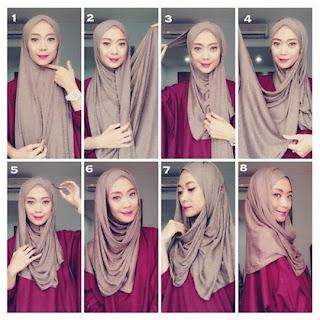 Tutorial Hijab Pashmina Spandex