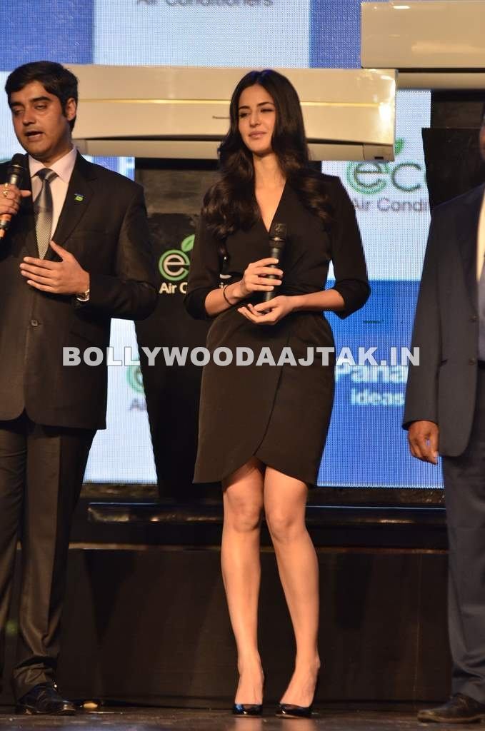 Katrina Kaif in Black Dress1 - Katrina Kaif in Black Dress launches Panasonic new ACs