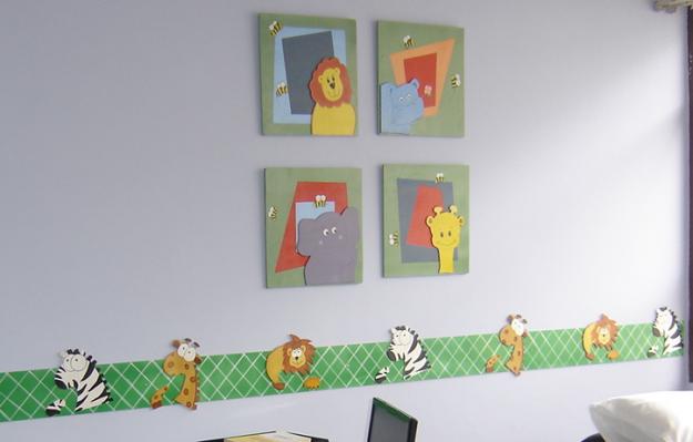 Manualidades claudix cenefas para habitaciones y aulas - Cuadros habitacion nino ...