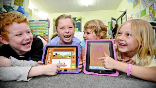 middle school gives ipads to students