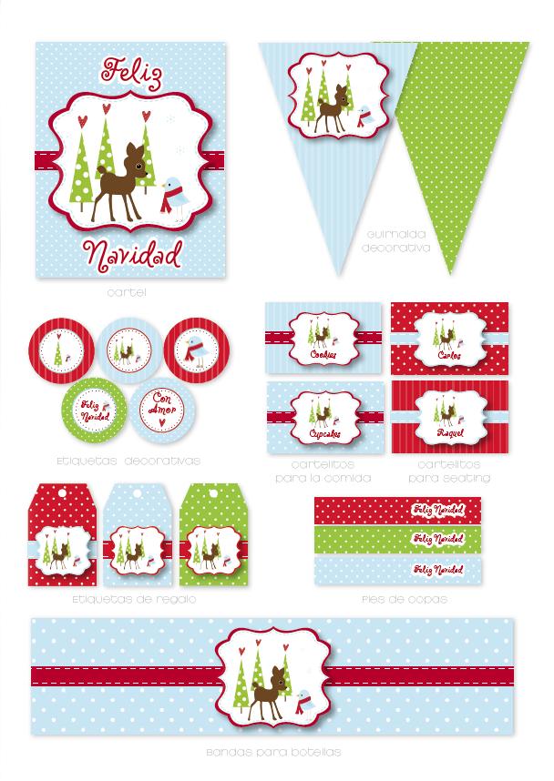 Alma de fiesta: Kits de Navidad para imprimir