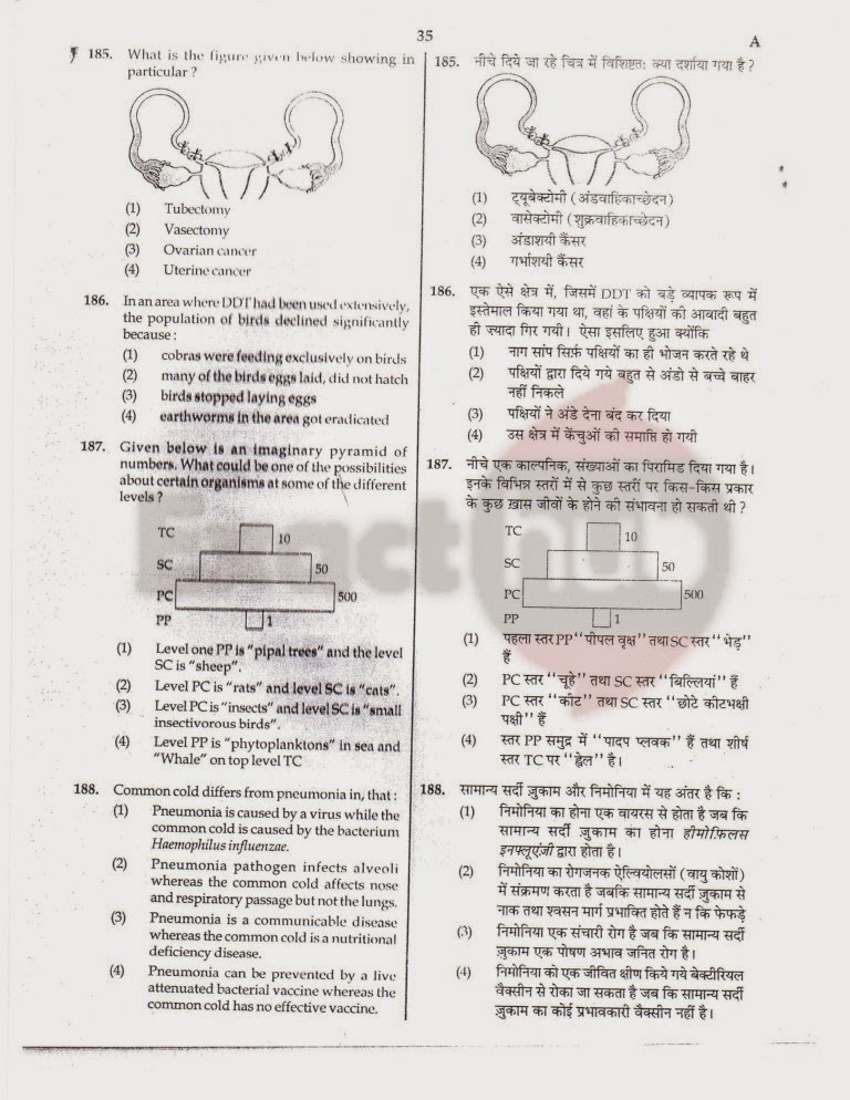 AIPMT 2012 Exam Question Paper Page 35