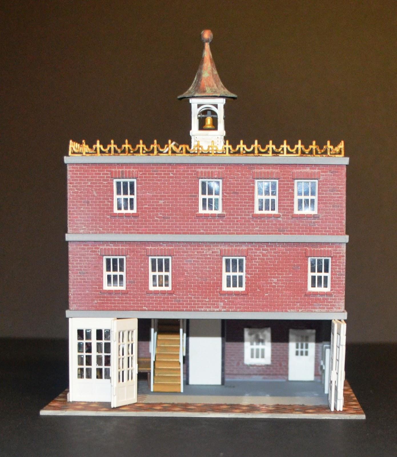 Nirvana Valley Model Railroad Fire Station Ho Scale