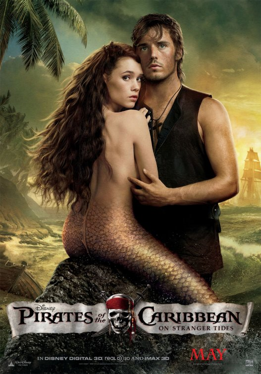 Pirates of the Caribbean mermaid movie poster