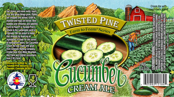 Cucumber Cream Ale label