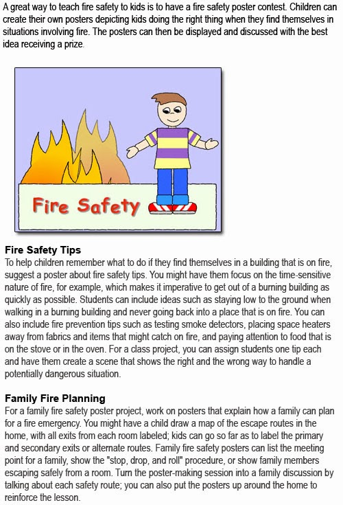 Fire safety posters for kids