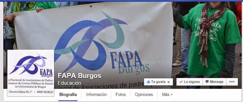 FAPA Burgos en Facebook