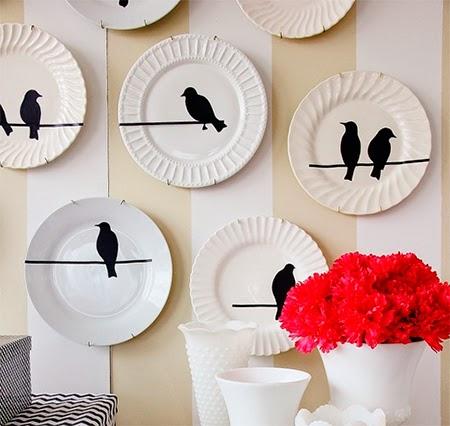 mural, parede, decoração, faça você mesmo, diy, wall art, pratos decorativos
