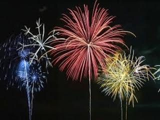 Fireworks display during Fourth of July Celebration