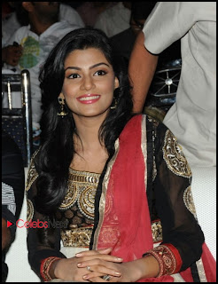 Anisha Ambrose Pictures in Salwar Kameez at Alias Janaki Movie Audio Release Function  0010.jpg