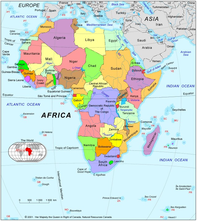 Pinconning HS Art RoomPinconning Area Schools Map of Africa Use