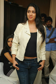 Actress Charmi Kaur Pictures in Jeans at One by Two Movie Celetes 20 Years Event 0151