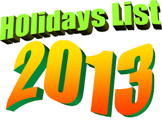 List-of-holidays-2013, Indian-national-holiday, before-planning-your-trip