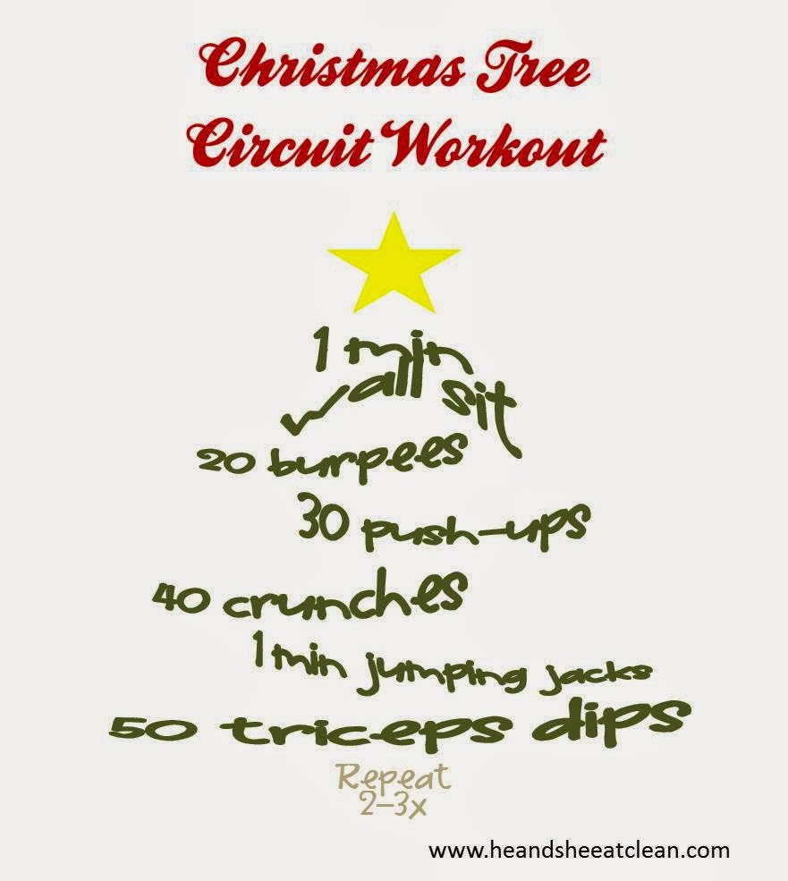 Christmas tree circuit workout he and she eat clean