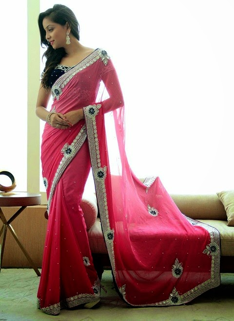 Embellished Empress Draped Sarees