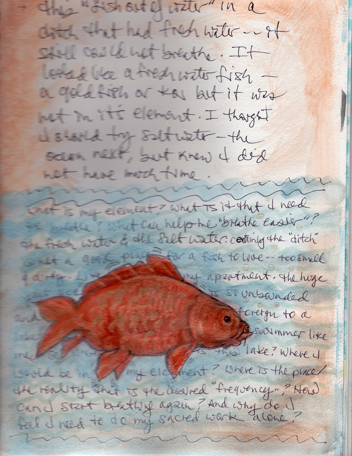 gayle 39 s art journal journey visual art journal fish out