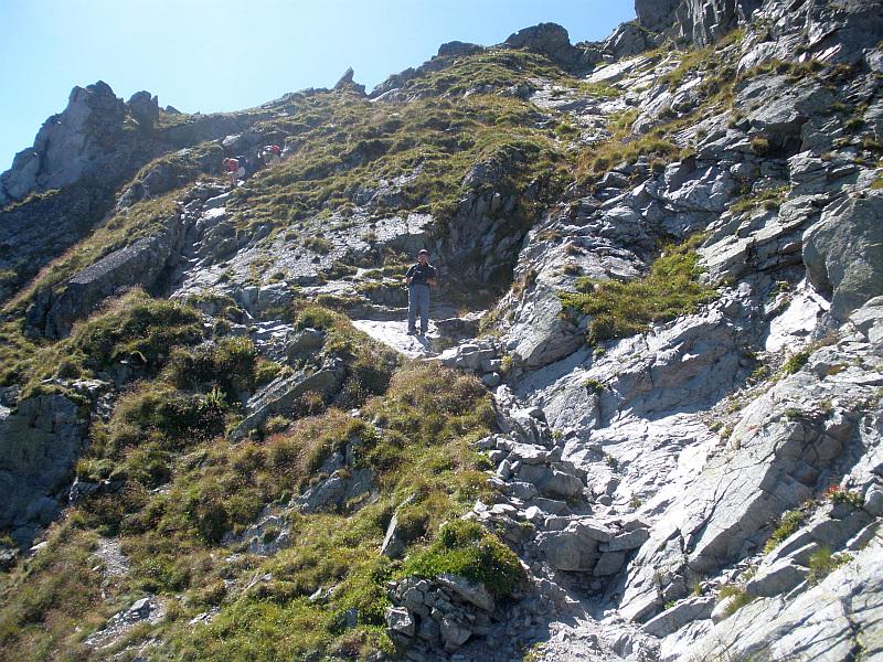 Na zejściu na Granacką Przełęcz.