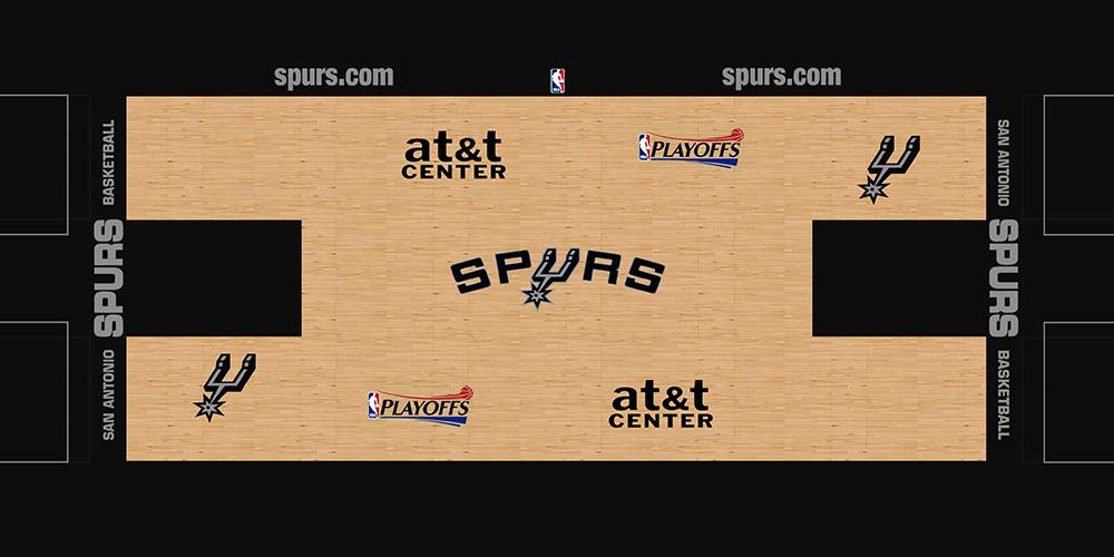 NBA 2K14 San Antonio Spurs HD Court Mod [NBA on TNT] - NBA2K.ORG