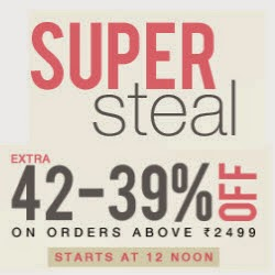 Jabong : Clothing, Footwears, Beauty, Bags & Accessories up to 81% + upto 42% off