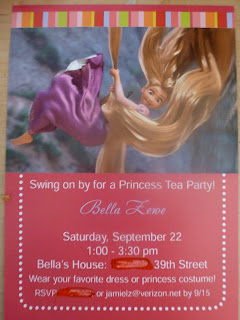 Rapunzel invitations