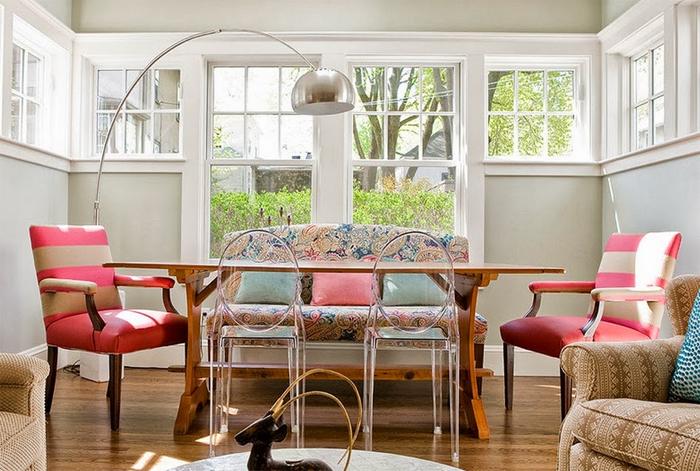 sofa, mesa, jantar, sala, cozinha, lanchonete, americana, classico, cadeira, decoração, ideia