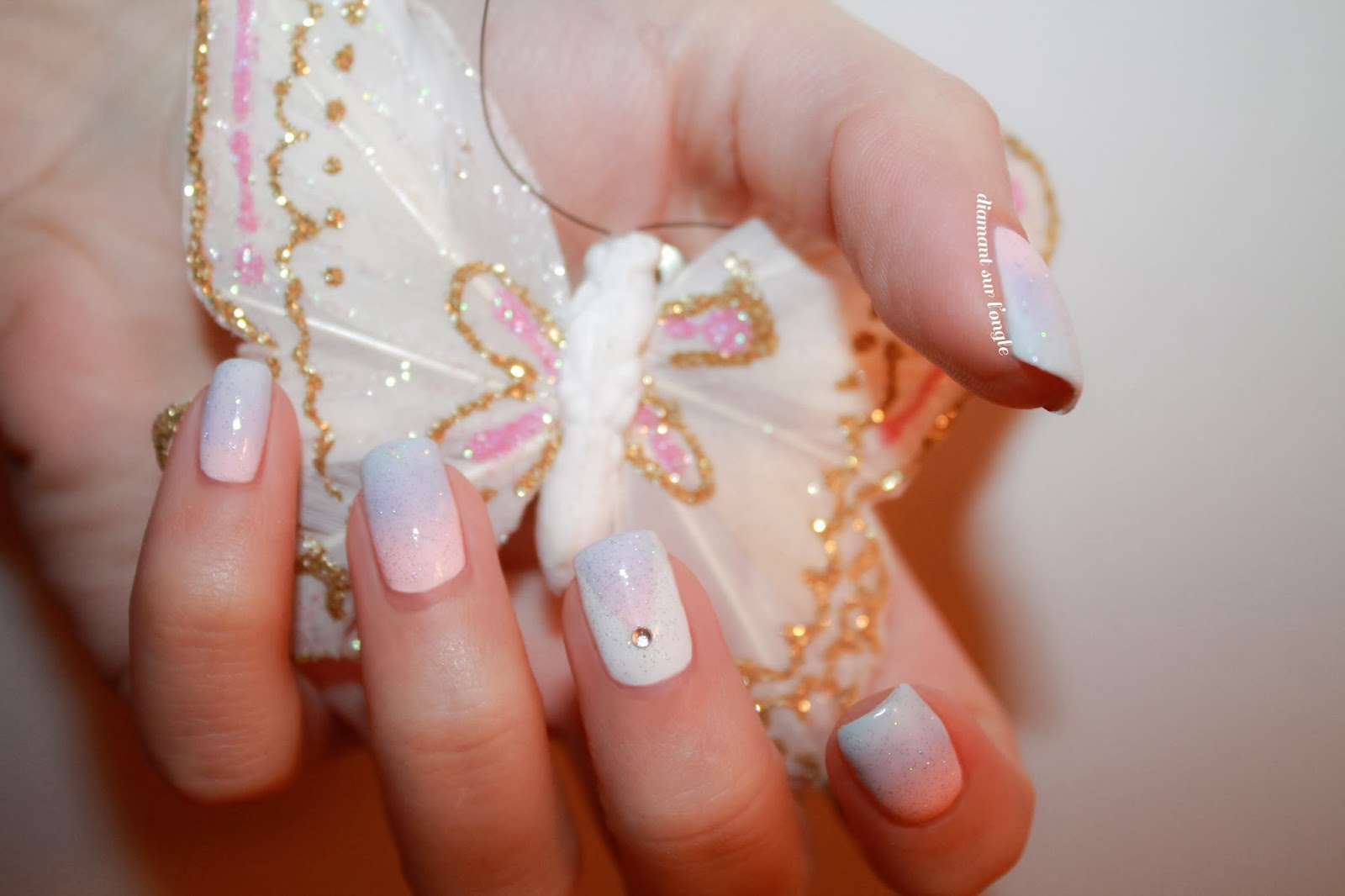 Pastels Gradient Nail Art