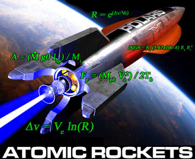 "The rocket ""Polaris"" orbits a planet with mathematical equations in the foreground."