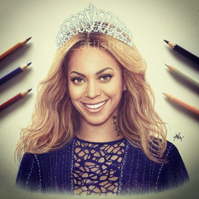 02-Beyoncé-Cas-_artistiq-Colored-Celebrity-and-Cartoon-Drawings-www-designstack-co