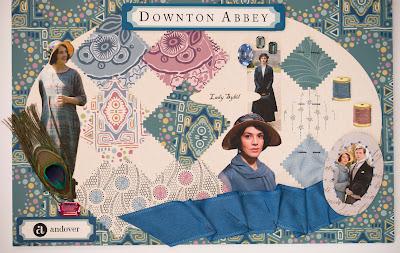 Lady Sybil Fabrics from Downton Abbey for Andover