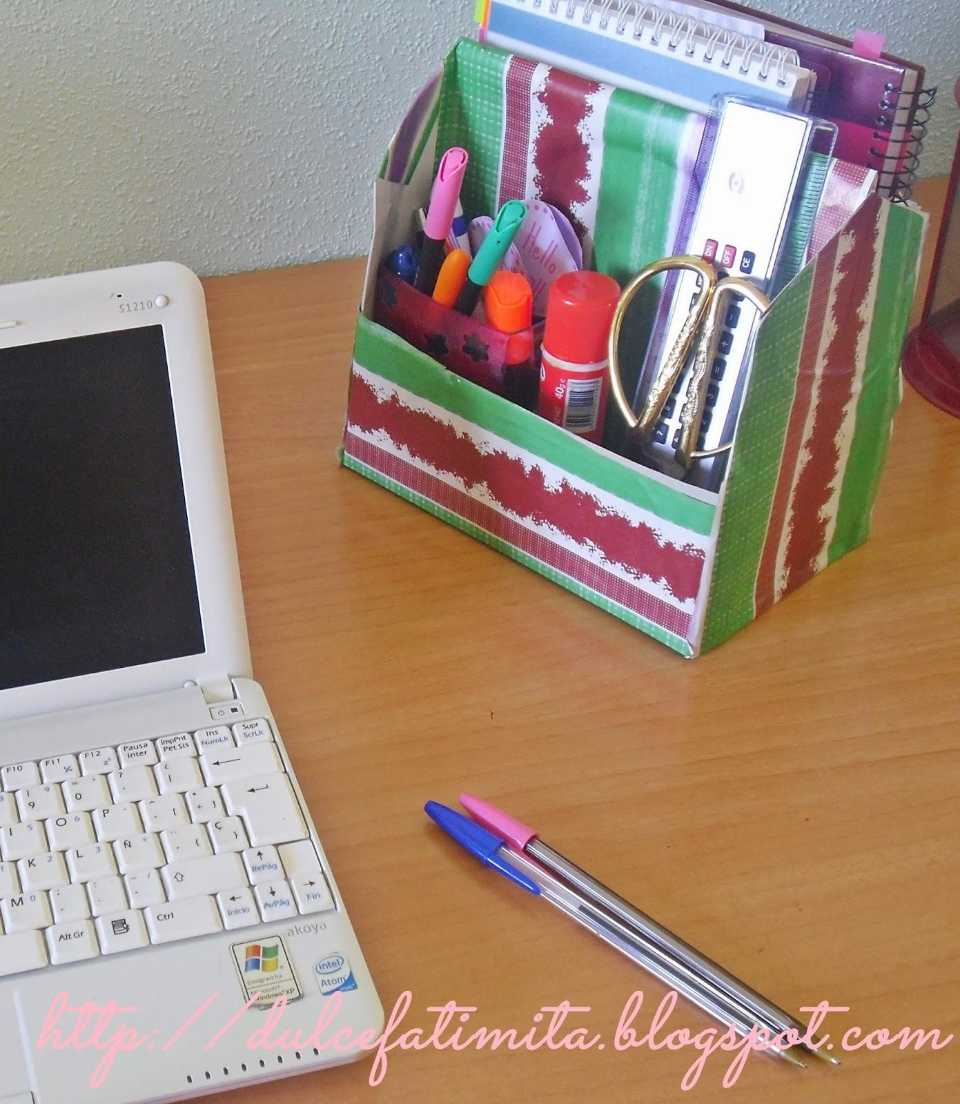 Hacia el lado bueno de la vida organizador escritorio con caja de zapatos - Organizador de escritorio ...