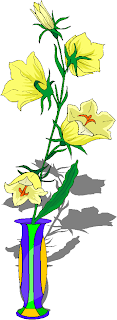 Five Yellow Flowers in a Vase Free Clipart