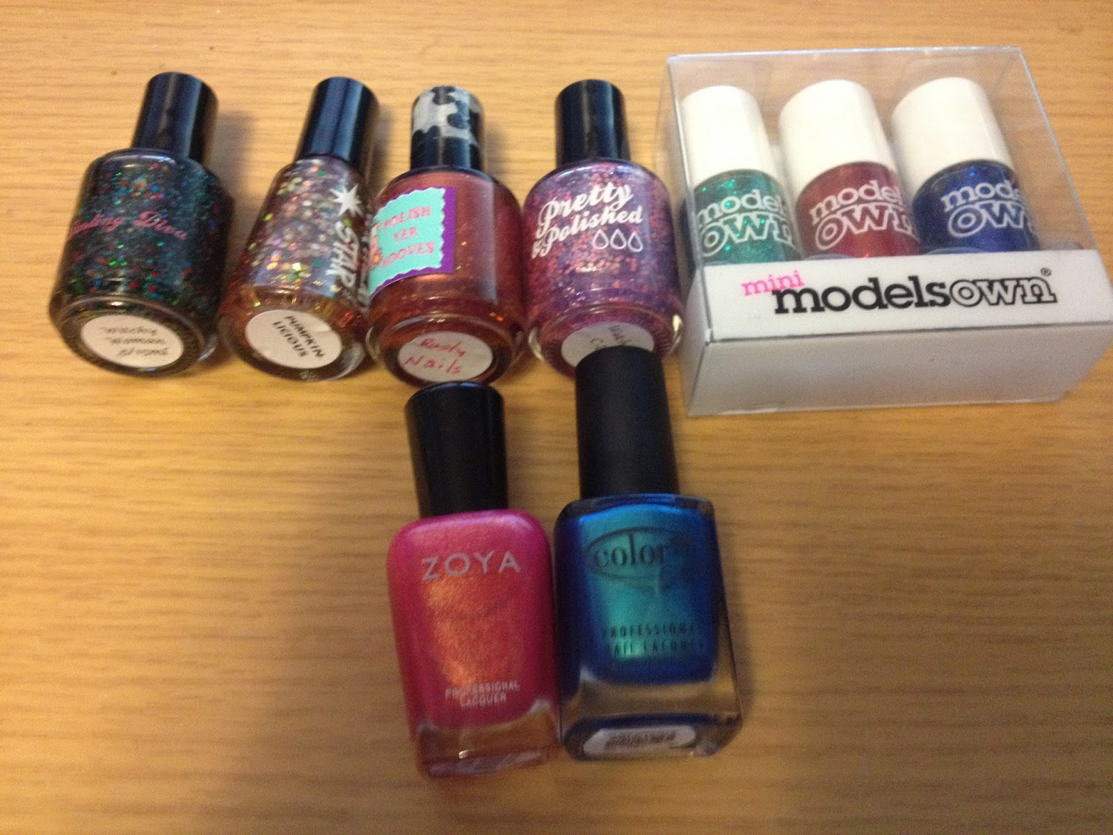 Darling Diva Northern Star Polish Yer Hooves Pretty & Polished Models Own Zoya Color Club
