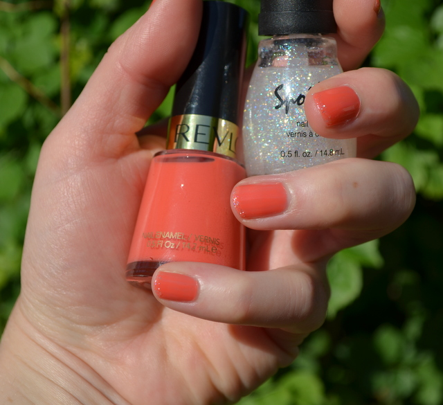 Revlon's Make Mine Mango and Spoiled Snow Globe Nail Polish
