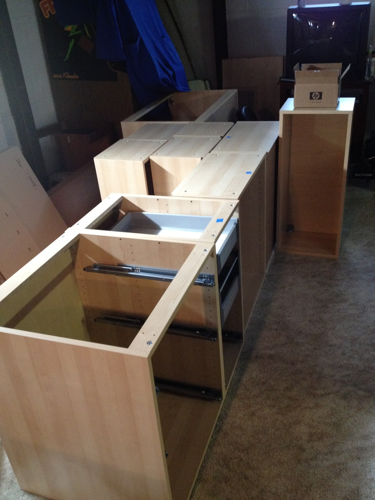 Our Ikea Kitchen Cabinet Building