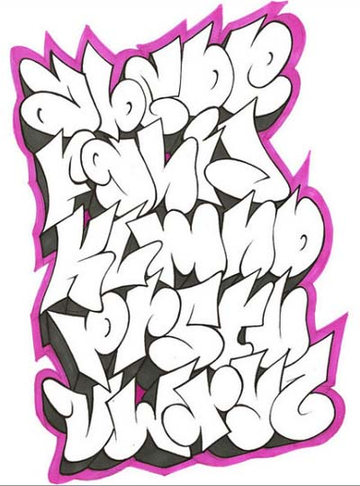 Arief Singo: graffiti alphabet - 41.2KB